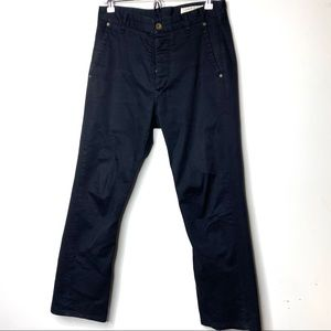 Rag & Bone men black straight leg jeans 30